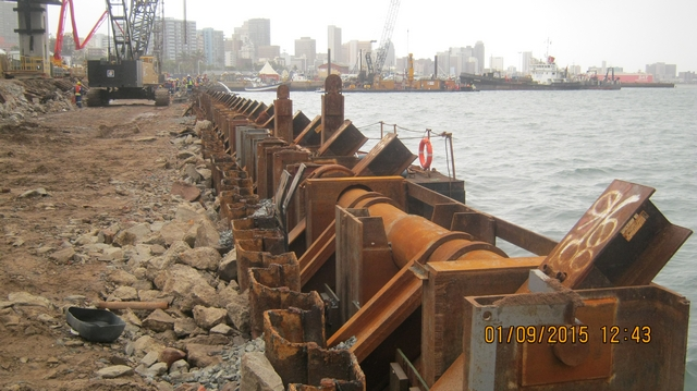 Grouted Steel Anchor Piles A First In Sa Installed In