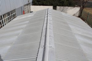 Marley Super 6 of 3 600 x 920 x 6 mm Barge Boards 80 x 200 x 3 000 Marley Super 6 Ridge LD and RD were used for the roof.