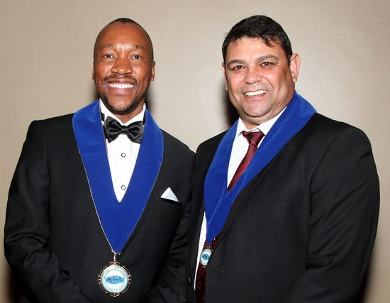 Bafikile Bonke Simelane, the new President of Master Builders South Africa with his Vice President John Mathews