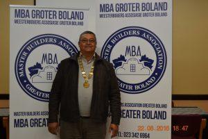 Mr DJ Phillips, President of Master Builders Association - Greater Boland