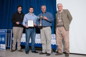 National Entry: Aveng Steeledale Bloemfontein. Left to Right: Stephan Claassen (Jnr. Health & Safety Advisor), Nico de Bruyn (Health & Safety Advisor) Henk Spangenberg (Aveng Steeledale), Tienie Venter (Health & Safety Advisor)