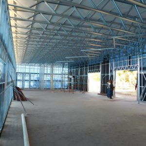 Completed in just 8 weeks, this structure demonstrates the efficiency and speed of construction for which light steel frame building is renowned.