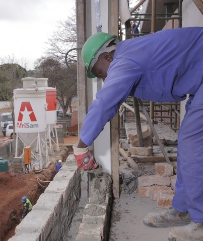 AfriSam's Dry Mortar product allows immediate access to an already blended dry mortar solution that ensures product integrity and quality construction on a project