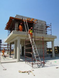 The control tower being constructed
